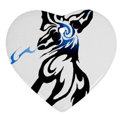 Alpha Dog Heart Ornament (Two Sides)