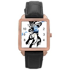 Alpha Dog Rose Gold Leather Watch