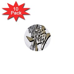 The Flying Dragon 1  Mini Button (10 Pack)