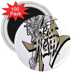 The Flying Dragon 3  Button Magnet (100 pack)