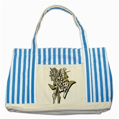 The Flying Dragon Blue Striped Tote Bag