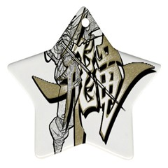 The Flying Dragon Star Ornament (Two Sides)