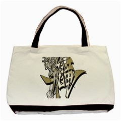 The Flying Dragon Twin Sided Black Tote Bag