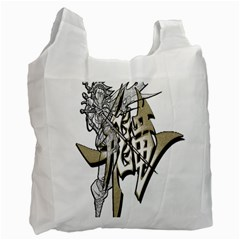 The Flying Dragon White Reusable Bag (one Side)