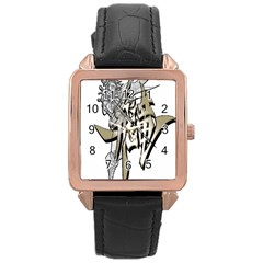 The Flying Dragon Rose Gold Leather Watch