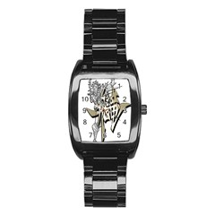 The Flying Dragon Stainless Steel Barrel Watch