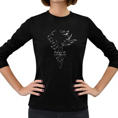 Maybe I m a lion Women s Long Sleeve T-shirt (Dark Colored)