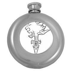 Maybe I m a lion Hip Flask (Round)