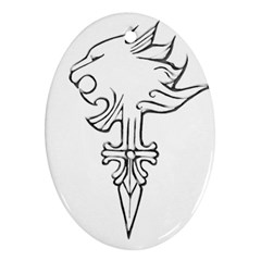 Maybe I m A Lion Oval Ornament (two Sides)