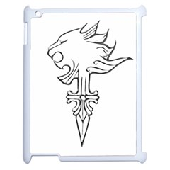 Maybe I m A Lion Apple Ipad 2 Case (white)