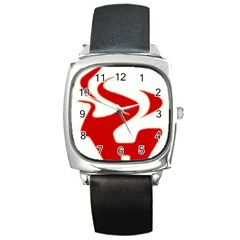 Fever Time Square Leather Watch