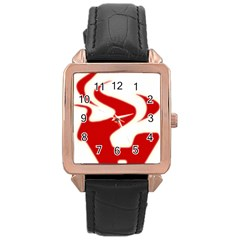 Fever Time Rose Gold Leather Watch