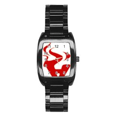 Fever Time Stainless Steel Barrel Watch