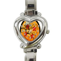 The Search Continues Heart Italian Charm Watch