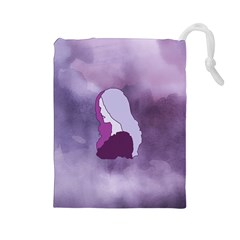 Profile Of Pain Drawstring Pouch (large)