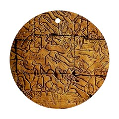 Ancient Egypt Mural 12aug 2014 Round Ornament