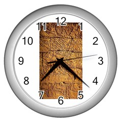 Ancient Egypt Mural 12aug 2014 Wall Clock (Silver)