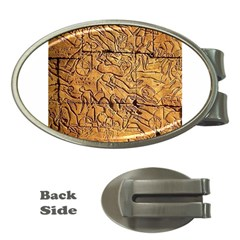 Ancient Egypt Mural 12aug 2014 Money Clip (oval)