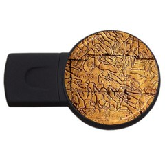 Ancient Egypt Mural 12aug 2014 2gb Usb Flash Drive (round)