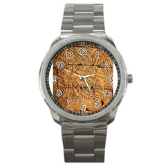 Ancient Egypt Mural 12aug 2014 Sport Metal Watch