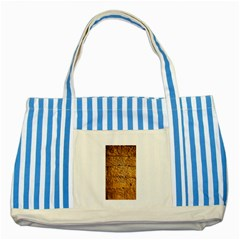 Ancient Egypt Mural 12aug 2014 Blue Striped Tote Bag