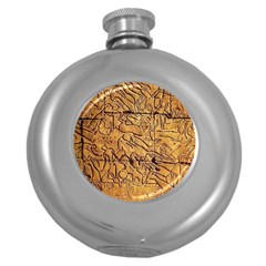 Ancient Egypt Mural 12aug 2014 Hip Flask (round)