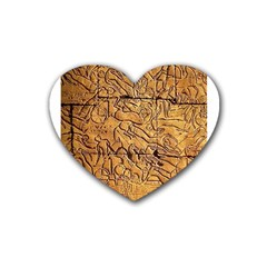 Ancient Egypt Mural 12aug 2014 Drink Coasters (Heart)