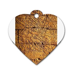 Ancient Egypt Mural 12aug 2014 Dog Tag Heart (two Sided)