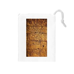 Ancient Egypt Mural 12aug 2014 Drawstring Pouch (Medium)