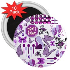 Fms Mash Up 3  Button Magnet (10 pack)