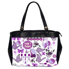 Fms Mash Up Oversize Office Handbag (two Sides)