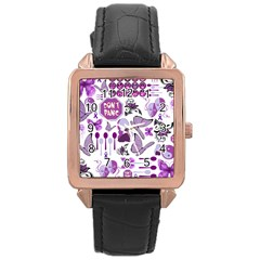 Fms Mash Up Rose Gold Leather Watch
