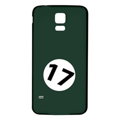 British Racing Green Samsung Galaxy S5 Back Case (White)