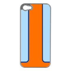 Gulf No Logo Apple Iphone 5 Case (silver)
