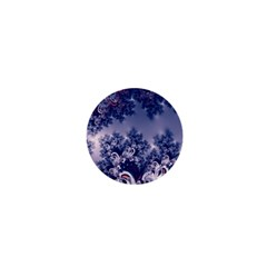 Pink and Blue Morning Frost Fractal 1  Mini Button Magnet