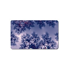 Pink And Blue Morning Frost Fractal Magnet (name Card)