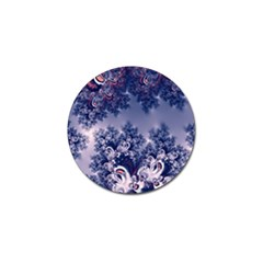 Pink and Blue Morning Frost Fractal Golf Ball Marker