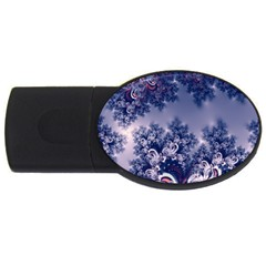 Pink And Blue Morning Frost Fractal 2gb Usb Flash Drive (oval)