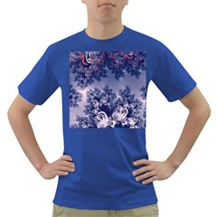 Pink And Blue Morning Frost Fractal Men s T Shirt (colored)