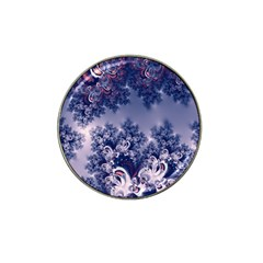 Pink And Blue Morning Frost Fractal Golf Ball Marker (for Hat Clip)