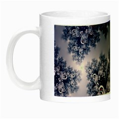 Pink And Blue Morning Frost Fractal Glow In The Dark Mug