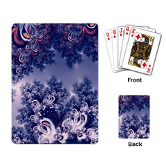 Pink And Blue Morning Frost Fractal Playing Cards Single Design