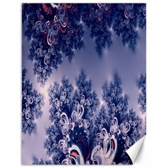 Pink And Blue Morning Frost Fractal Canvas 12  X 16  (unframed)