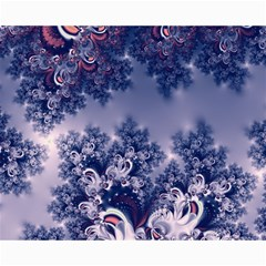 Pink and Blue Morning Frost Fractal Canvas 16  x 20  (Unframed)