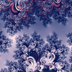 Pink And Blue Morning Frost Fractal Canvas 20  X 20  (unframed)