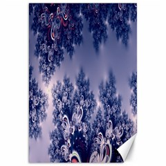 Pink and Blue Morning Frost Fractal Canvas 20  x 30  (Unframed)