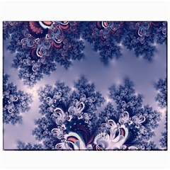 Pink and Blue Morning Frost Fractal Canvas 11  x 14  (Unframed)