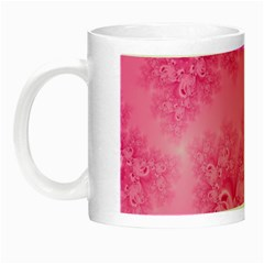 Soft Pink Frost Of Morning Fractal Glow In The Dark Mug
