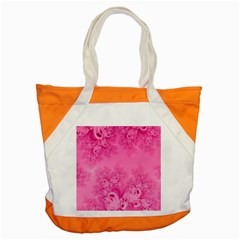 Soft Pink Frost of Morning Fractal Accent Tote Bag