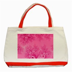 Soft Pink Frost Of Morning Fractal Classic Tote Bag (red)